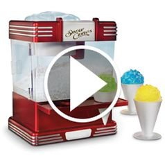 Watch The Countertop Snow Cone Machine in action