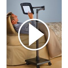 Play video for The Rolling Bedside iPad Stand