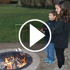 Watch The Campfire Roasting Rod in action