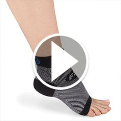 Watch The Plantar Fasciitis Relieving Foot Sleeves in action