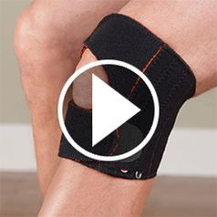 Watch The Stabilizing Knee Pain Relieving Wrap in action