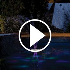 Watch The Floating Lighted Pool Fountain in action