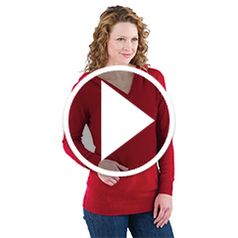 Watch The Lady's Washable Cashmere Hooded Sweatshirt in action