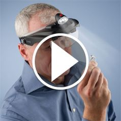 Watch The Jeweler's Lighted Magnification Visor action
