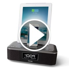 Watch The iPad and iPhone Charging Clock Radio in action