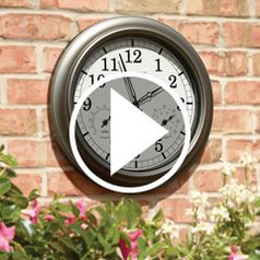 Watch The Always Accurate Outdoor Clock in action