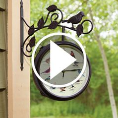 Watch The Serenading Songbirds Outdoor Clock in action