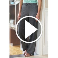Play video for The Ladys Washable Cashmere Lounge Pants
