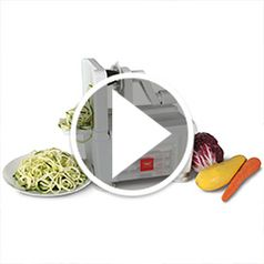 Watch The Four Blade Vegetable Spiralizer in action