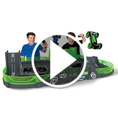 """Watch The Glow in the Dark Stunt Car Stadium in action"""" style=""""border-width: 1px; border-style: solid;"""