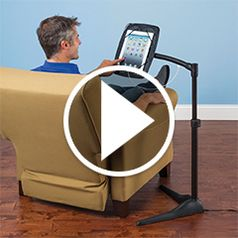 Play video for The iPad Charging Floor Stand