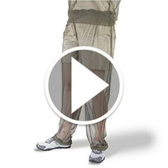 Play video for The Wearable Mosquito Net Pants