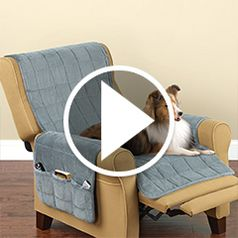 Play video for The Non Slip Furniture Protecting Pet Covers