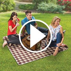 Play video for The Easiest Care Waterproof Concert Blanket