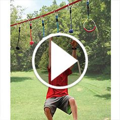 Play video for The Junior Ninjas 50 Foot Obstacle Course