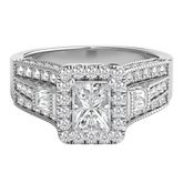 Helzberg Diamond Symphonies® Mosaica 1 ct. tw. Diamond Engagement Ring in 14K Gold