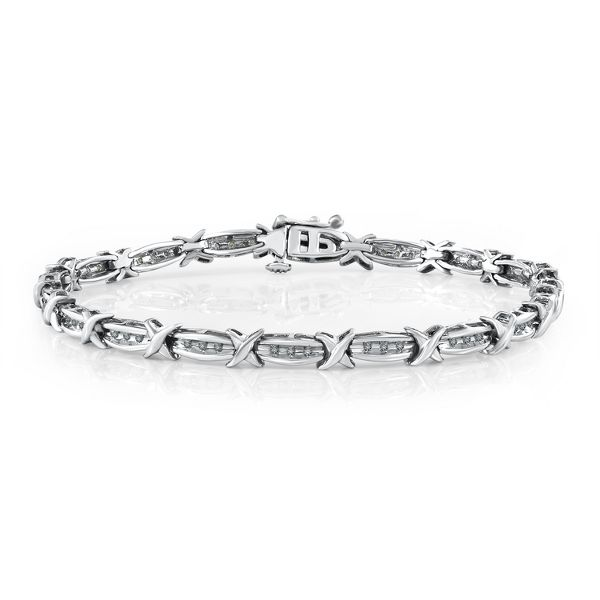 1/5 ct. tw. Diamond Bracelet in Sterling Silver