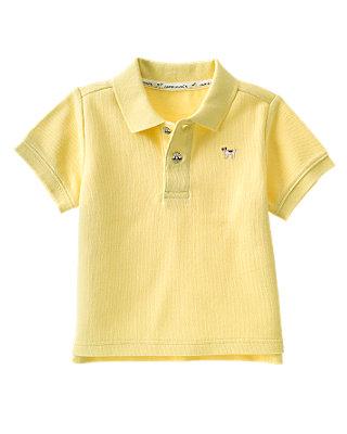 Light French Yellow Polo Shirt at JanieandJack