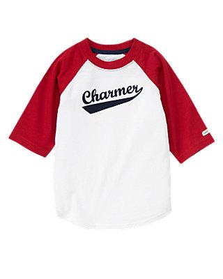 Pure White Charmer Baseball Tee at JanieandJack