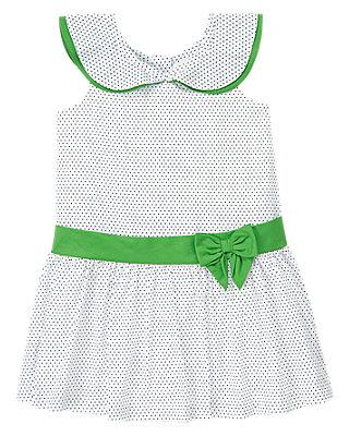 Pure White Pin Dot Batiste Dress at JanieandJack