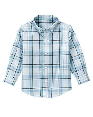 Cashmere Blue Plaid Plaid Dress Shirt at JanieandJack