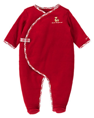 Holiday Red First Christmas One-Piece at JanieandJack