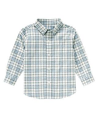 Cashmere Blue Check Plaid Dress Shirt at JanieandJack