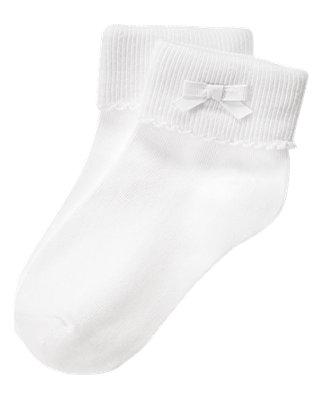 White Bow Sock at JanieandJack