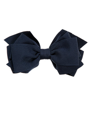 Classic Navy Bow Barrette at JanieandJack