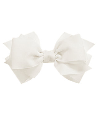 Jet Ivory Bow Barrette at JanieandJack