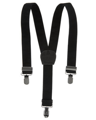 Boys  Black Classic Suspender at JanieandJack