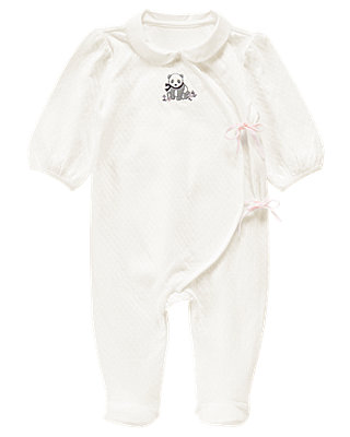Jet Ivory Panda Jacquard One-Piece at JanieandJack