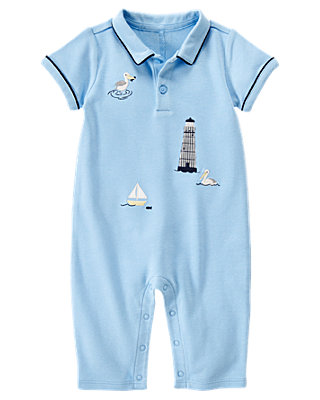 Blue Skies Lighthouse One-Piece at JanieandJack