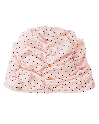 Baby Girl Pale Pink Dot Dot Swim Cap at JanieandJack