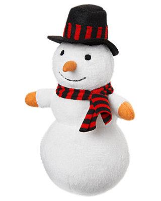 Pure White Snowman Plush Toy at JanieandJack