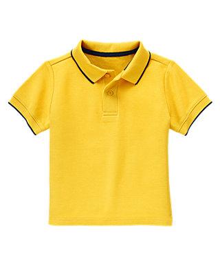 Sailboat Yellow Polo Shirt at JanieandJack