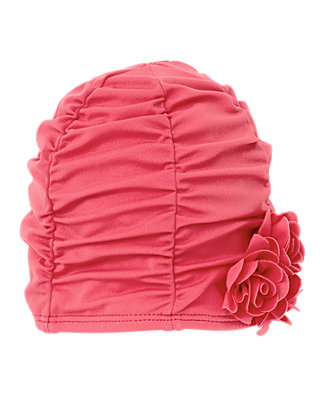 Wild Rose Rosette Swim Hat at JanieandJack