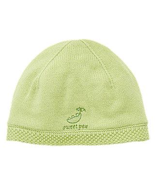 Pale Green Sweet Pea Sweater Hat at JanieandJack