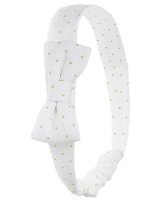 Pale Green Dot Dot Bow Headband at JanieandJack