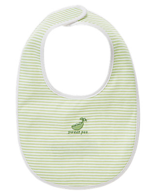 Pale Green Sweet Pea Bib at JanieandJack
