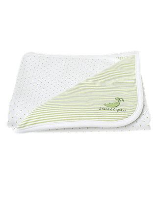 Pale Green Sweet Pea Blanket at JanieandJack