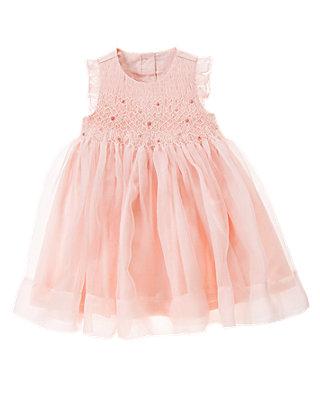 Rosebud Pink Hand-Smocked Rosebud Silk Dress at JanieandJack