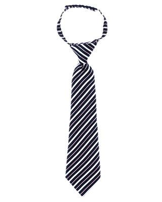 Boys Classic Navy Stripe Stripe Tie at JanieandJack