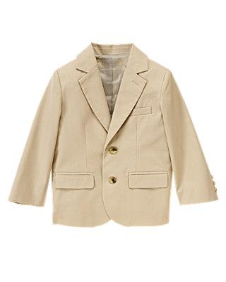 Classic Khaki Khaki Suit Blazer at JanieandJack