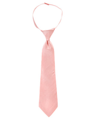 Boys Light Pink Silk Duppioni Tie at JanieandJack