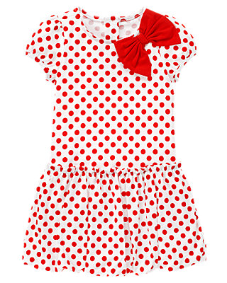 Riviera Red Dot Bow Dot Bubble Dress at JanieandJack