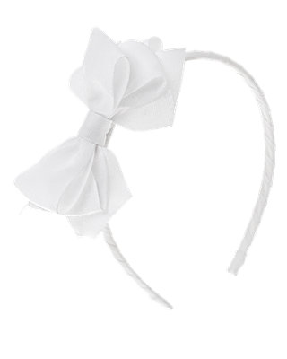Pure White Bow Headband at JanieandJack