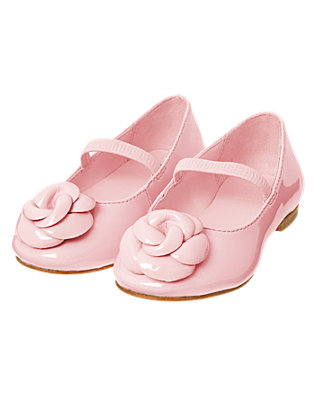Blossom Pink Rosette Patent Leather Shoe at JanieandJack