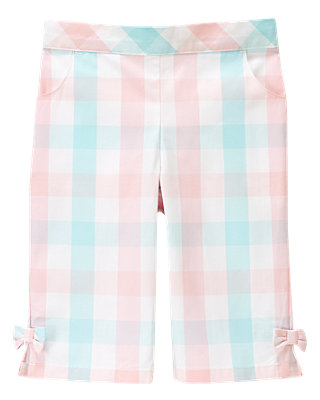 Blossom Pink Plaid Plaid Crop Pant at JanieandJack