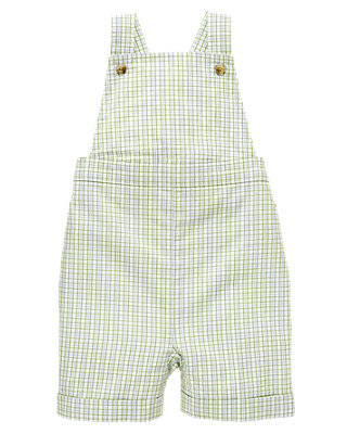 Turtle Blue Plaid Plaid Dobby Shortall at JanieandJack